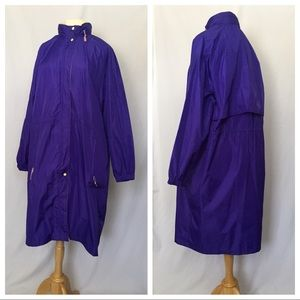 Vintage 90s Woolrich Purple Rain Coat